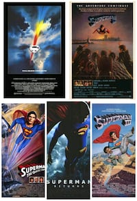 5 Superman rolled movie posters Alexandria, 22312