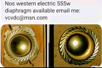 1 PC. Nos Western electric 555w field coil driver element Woodstock, 22664