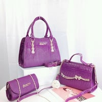 purple and pink leather crossbody bag Surrey, V4N 1W2