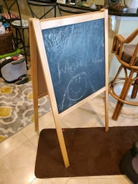 Childs Chalk and Dry Erase Board Easel.