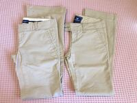 Two pair Juniors/women's khaki pants. Size 2. Like new. Great for work Las Vegas, 89161