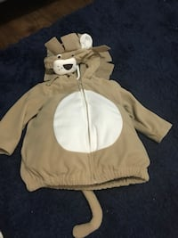 white and brown zip-up hoodie Orangeville, L9W 3C2