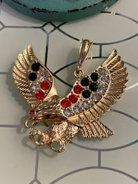 14k Gold Plated Eagle Pendant With Clear CZ Or Colored Stones Each $25