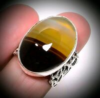 Sterling Silver African Agate Size 8 Albuquerque, 87114