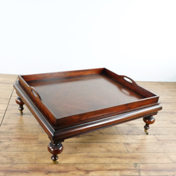Used Restoration Hardware Coffee Table With Tray 1016459 For