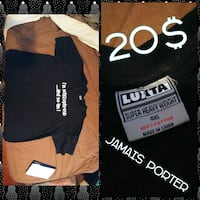 black Luxtta shirt collage with text overlay Saint-Sulpice, J5W 0H2