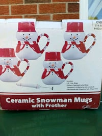 Snowman mugs with frother Warren