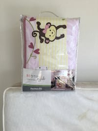 White and pink monkey printed comforter set Sacramento, 95822