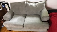 gray suede loveseat Catlett, 20119