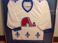 white and blue Adidas jersey shirt Calgary, T2A