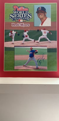 Phillies 2008 World Series autographed Brett Myers photograph
