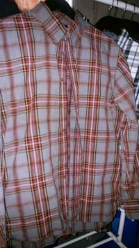 red and white plaid dress shirt Mississippi Mills, K0A 1A0