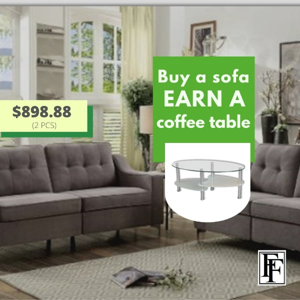 Martin Fabric Sofa Set + GIFT