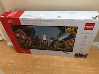 "RCA 48""4k ultra hd tv brand new in box Brampton, L6X"