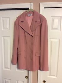 pink button-up coat
