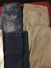 two blue and gray denim bottoms Clover, 29710
