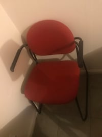 Red and black rolling armchair Frankfort, 40601