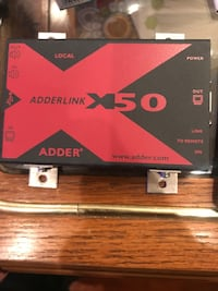 AdderLink X50 is a link transparent USB and high performance video extender that delivers bright, sharp, high quality video at up to 1920 x 1200 together with 44.1kHz digital stereo audio over a single CATx cable. Philadelphia, 19125