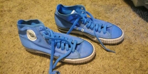 Blue PF Flyers Posture Foundation high tops shoes womens 10.5/mens 9 c4f532ee-8f0a-4077-9c20-4156d80edff5