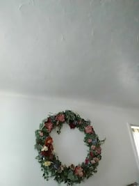 pink and green flower wreath Cleveland, 44111