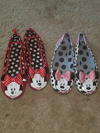 KIDS pair of red and white Minnie Mouse flats Arlington, 22204