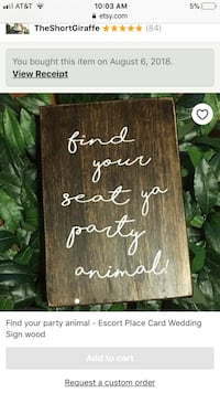 Find your party animal sign with 60 animals for escort cards Rowley, 01969