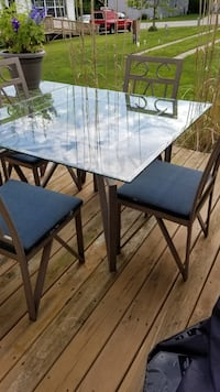 Nice Glass Top Dining Table & 4 Chairs
