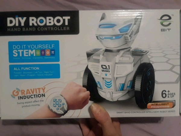 DIY robot with hand band controller