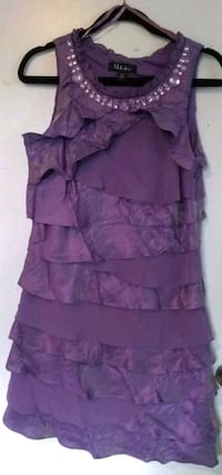 S.L. Fashions Purple Tiered Ruffled Dress Washington, 20011