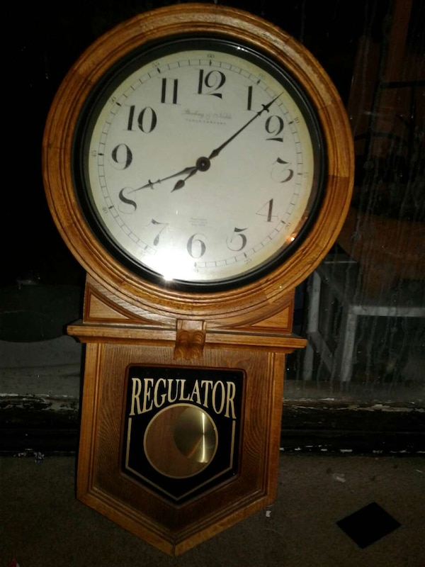 Used Antique Regulator Wall Clock