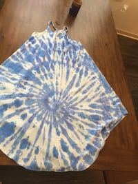 blue and white floral textile Houston, 77077