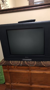Black flat screen tv with remote Harvest, 35749