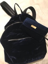 French connection velour backpack with wallet  Toronto, M9N 1E2
