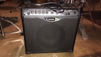 black and gray Line 6 guitar amplifier