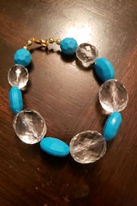 Turquoise and clear bracelet