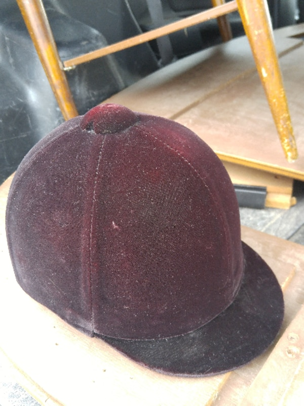 a07b6196e24 Used Horse Riding Helmet Ladies 7 - fits 57cm head US Pony Club Velvet  Equestrian Jumping English Hat Cap EXCELLENT CONDITION for sale in Oakville  - letgo
