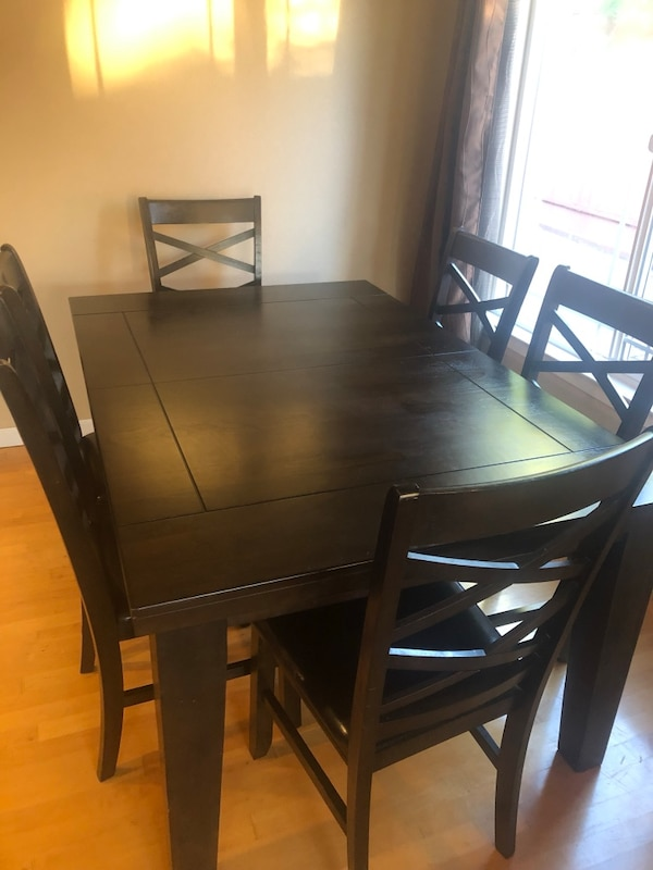 Awesome Rectangular Brown Wooden Table With 6 Chairs Dining Set Machost Co Dining Chair Design Ideas Machostcouk