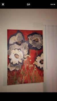 brown and white flower painting Modesto