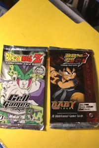 Dragon ball z packs cell games & Baby Saga booster packs  Beltsville, 20705