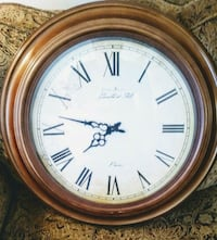 Larger Metal Clock .. Distressed Antique Face