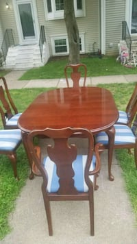 brown wooden dining table set Clifton