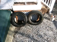 two black vehicle tires