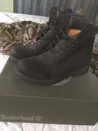 All black timberlands size 10
