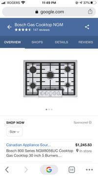 Bosch cooktop 30 inches  Ngm8055uc  new in box Oakville, L6L 5E9
