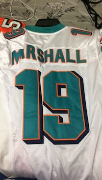 white and teal Miami Dolphins Marshall 19 jersey shirt Miami, 33193