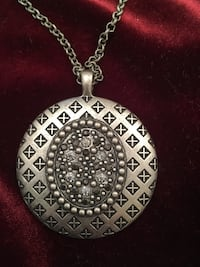 Silver Pendant with Crystals Necklace Lovettsville, 20180