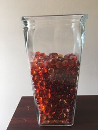 Red Glass marbles and gems