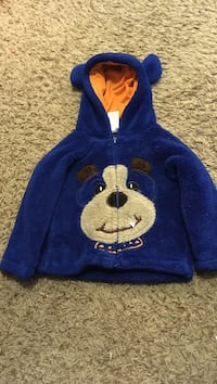 Blue and white mickey mouse print pullover hoodie Red Deer, T4P 2X6