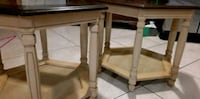 two hexagonal brown wooden side tables New Port Richey, 34652