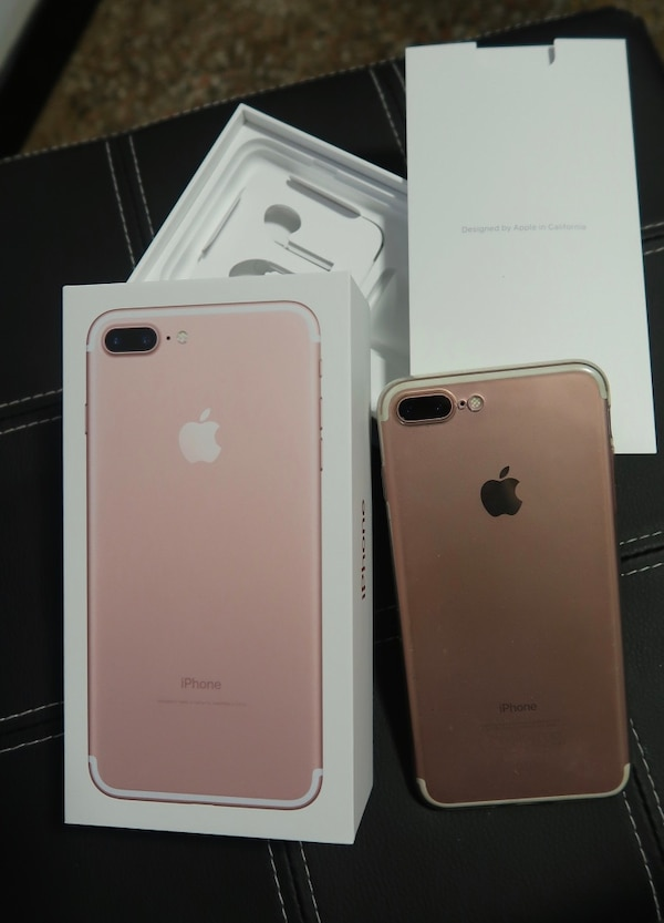 IPhone 7 plus in oro rosa con scatola 256GB, come nuovo
